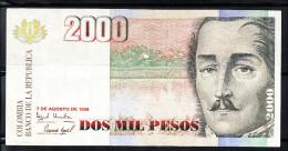 COLOMBIA 1998.  2000 PESOS.General Francisco De Paula Santander. Ebc  .B 589 - Colombia