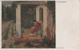 Künstlerkarte AK M. V. Schwind Die Waldkapelle Verlag Wiechmann München No. 6000 - Künstlerkarten