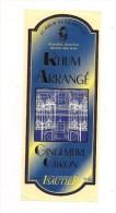 Etiquette  Rhum Arrangé Gingembre Citron De La REUNION -  40% 50 Cl - Charles ISAUTIER - - Rum