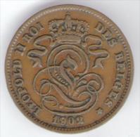 BELGIQUE / BELGIO - 2 CENTIMES (1902) LEOPOLD II - 1865-1909: Leopoldo II