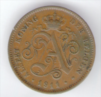 BELGIO 2 CENTS 1911 ALBERTO I - 1909-1934: Albert I