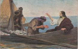 Künstlerkarte AK Die Heilige Schrift Serie VII Bild 3 Petri Fischzug Und Berufung Holy Scripture Seinweber ? - Künstlerkarten