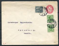 1921 Denmark Nakskov Uprated Stationery - Spremberg - Covers & Documents