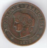 FRANCE (REPUBLIQUE) -  5 CENTIMES (1872) - K - Francia