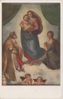 Künstlerkarte AK Raffaello Santi Die Sixtinische Madonna La Vierge De Saint Sixte The Sixtine Madonna Dresden Raffael - 1900-1949