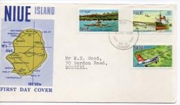Carta De Primer Dia De Niue De 1970 - Niue