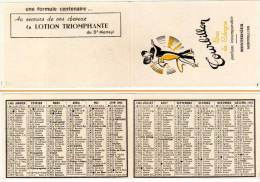Carte Parfumée, Tourbillon, Eau De Cologne, Monternier, Montpellier (calendrier 1965) - Cartes Parfumées