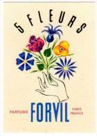 Carte Parfumée, Parfums Forvil 5 Fleurs - Cartes Parfumées