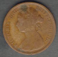 GREAT BRITAIN / GRAN BRETAGNA - QUEEN VICTORIA  -  HALF PENNY ( 1889 ) - 1816-1901: 19. Jh.