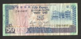 [NC] MAURITIUS - BANK Of MAURITIUS - 50 RUPEES (1986) - Mauritius