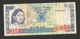 [NC] MAURITIUS - BANK Of MAURITIUS - 20 RUPEES (1985 - 1991) - Mauritius