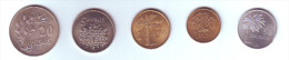 Guinea Bissau 5 Coins Lot - Guinea Bissau