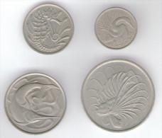 SINGAPORE SERIE 4 MONETE (1967 - 1979) - Singapour
