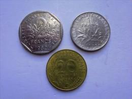 FRANCIA - LOTTO COMPOSTO DA 3 MONETE CIRCOLATE - Francia