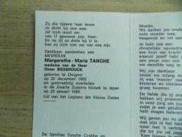 Doodsprentje Margaretha Maria Tanghe Ooigem 22/12/1895 Ieper 23/1/1988 (  Omer Biesbrouck ) - Religión & Esoterismo