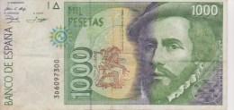 Espagne Lot 2 Billets 1000 Et 5000 Pesetas - [ 4] 1975-… : Juan Carlos I