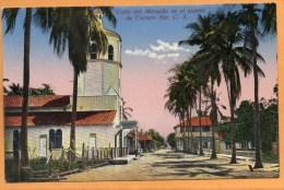 Calle Del Mercado Corinto Nicaragua 1910 Postcard - Nicaragua