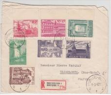 BELGIUM REGISTERED COVER 12/03/1962 COB 1205/11 BRUXELLES VERS WASSELONNE FRANCE - Lettres & Documents