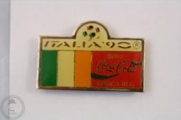Italy 1990 FIFA World Cup - Flag Of Ireland - Coca Cola Pin Badge #PLS - Coca-Cola