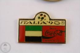 Italy 1990 FIFA World Cup - Flag Of Sierra Leone - Coca Cola Pin Badge #PLS - Coca-Cola