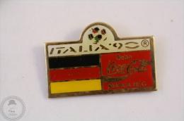 Italy 1990 FIFA World Cup - Flag Of Germany - Coca Cola Pin Badge #PLS - Coca-Cola
