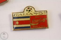 Italy 1990 FIFA World Cup - Flag Of  Costa Rica - Coca Cola Pin Badge #PLS - Coca-Cola