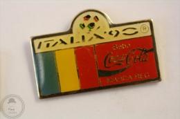 Italy 1990 FIFA World Cup - Flag Of  Romania- Coca Cola Pin Badge #PLS - Coca-Cola