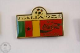 Italy 1990 FIFA World Cup - Flag Of Cameroon- Coca Cola Pin Badge #PLS - Coca-Cola