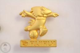 World Cup 1998 France Mascot Footix - Fujifil Advertising - Golden Colour - Football Pin Badge #PLS - Fútbol