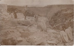 POSTCARD WALES STONE CUTTERS QUARRYING RPPC SOCIAL HISTORY POSS NORTH WALES - Unknown County
