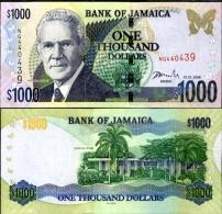 Jamaica 1000 Dollars 2008 Pick 86 UNC - Jamaique