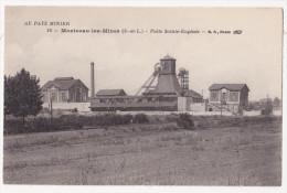 Cpa MONTCEAU LES MINES Puits Sainte Eugenie 10 Au Pays Minier - Montceau Les Mines
