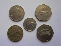 IRLANDA  - LOTTO COMPOSTO DA 5 MONETE CIRCOLATE - Irlanda