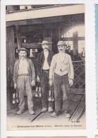 Cpa MONTCEAU LES MINES  Mineurs Avant La Descente BF 1 - Montceau Les Mines