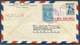 1944 Standard Oil Company Of Venezuela Cover Caripito Via New York - Berlin-Rahnsdorf Germany Censor - Venezuela