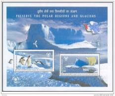 INDIA, 2009, Preserve The Polar Regions A Nd Glaciers,  Miniature Sheet, MNH, (**) - Nuovi