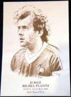 Cp Jubilé Michel PLATINI, Stade Marcel Picot NANCY 23 Mai 1988 - Illustration De Pierre Levé - Fútbol