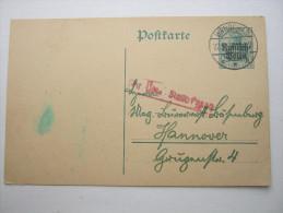 1918, Karte Mit Zensur - Covers & Documents
