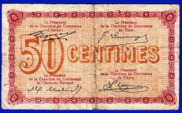 CHAMBRE DE COMMERCE DU DEPARTEMENT DU PUY DE DOME 50 CENTIMES SERIE AO 140 N°034,395 AMBERT RIOM CLERMONT FERRAND THIERS - Chambre De Commerce