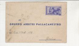 A2768 - Cartolina Post. GRUPPO ARBITRI PALLACANESTRO - GARA CAMPIONATO DOPPIERI NOVARA-OL.VOGHERA VG Biella 09-01-1953 - Sport