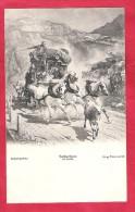 Gotthardpost-Diligence Gotthardpost-carte Postale Weltpostverein - Post