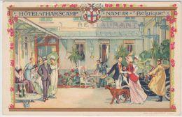 22231g HOTEL - RESTAURANT D' HARSCAMP - Namur - Carte Publicitaire - Namur