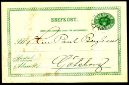 Entier Postal Suédois - Swedish Postcard - Circulé - Circulated - 1889. - Postal Stationery