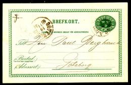 Entier Postal Suédois - Swedish Postcard - Circulé - Circulated - 1891. - Postal Stationery