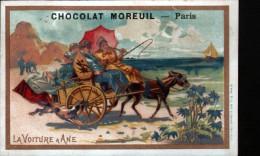 CHROMO - CHOCOLAT MOREUIL -LA VOITURE A ANE - Chocolat