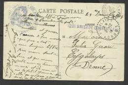 CACHET MILITAIRE 128ème BRIGADE D'INFANTERIE  SUR CPA MOULIN DE XERBEVILLER 1914 - Marcofilie (Brieven)