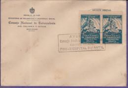 F-CU.586 CUBA TUBERCULOSOS. SPECIAL CANCEL. PRO-HOSPITAL INFANTIL - FDC