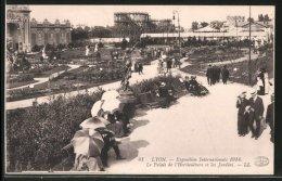 CPA Lyon, Exposition Internationale 1914, Le Palais De L'Horticulture Et Les Jardins, Exposition - Expositions