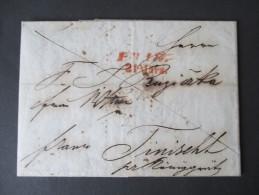 Österreich Vorphila1843 Prag - Triest Hauptangentschaft Für Böhmen Azienda Assicuratrice In Triest. Toller Brief!! - Österreich