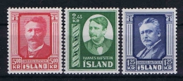 Iceland: 1954 Mi 293-295 MNH/** - 1944-... Republiek